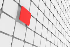 One red rectangle. Unique. Concept. Stock Images