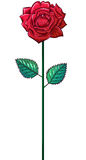 One red rose on a stem Stock Photo