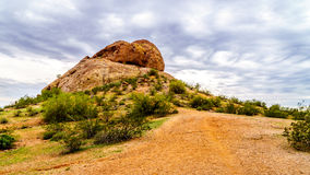 One of the red sandstone buttes of Papago Park near Phoenix Arizona Stock Images