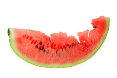 One red slice of ripe watermelon Royalty Free Stock Photos