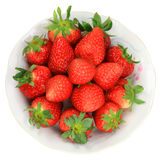 One red strawberry. Strawberry is a nutrient rich fruit, taste delicious, in China Zhuji City, Zhejiang Province, the cultivation of a wide range of rural areas Royalty Free Stock Photos