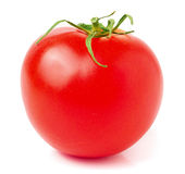 One red tomato on white background Royalty Free Stock Photography