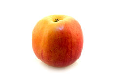One red and yellow apple. One red with yellow apple on white background Royalty Free Stock Images