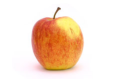 One red and yellow apple Royalty Free Stock Images