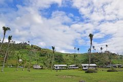 One of the resorts impacted by Cyclone Winston on Fijian island of Ovalau nearby Levuka town. This is located in Lomaiviti Province in the Eastern Division of stock photo