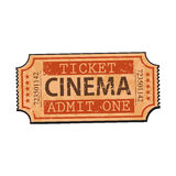 One retro style, vintage cinema, movie ticket Stock Photo