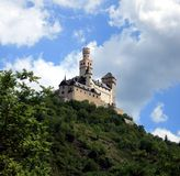 One of the Rhine castles. During the ship excursion via Nord Rhein- Westfalen, Germany. July 2007 Stock Image