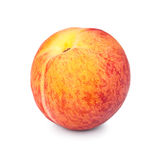 One ripe peach in closeup Royalty Free Stock Images