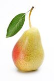 One ripe pear with a leaf. Royalty Free Stock Photography