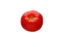 One ripe red tomato . Isolation, white Stock Photo