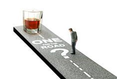 One for the road?. Concept image for drink driving. Copy space Royalty Free Stock Photos
