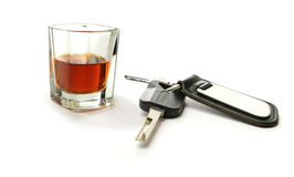 One for the road?. Concept image for drink driving. Copy space Stock Photos