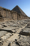 One of the rock quarries at the Pyramids of Giza in Cairo in Egypt. Royalty Free Stock Photo
