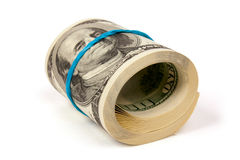 One roll from dollars Royalty Free Stock Photos