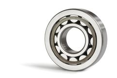 One roller bearing. Close-up of the roller bearing on a white background Stock Photo