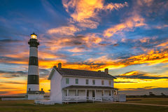 Bodie Island Lighthouse, Outer Bnks North Carolina. Predawn light over Bodie Island Lighthouse along North Carolina's Outer Banks Stock Photography