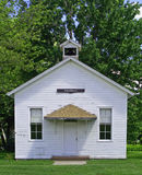 One-room schoolhouse. Old-fashioned one-room schoolhouse front view. located in romulus,new york.built in 1823 Royalty Free Stock Image