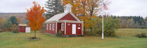 One-room schoolhouse. In Austerlitz from 1852, New York State Royalty Free Stock Photo