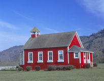 One-room schoolhouse. Along Highway 1, Stone Lagoon, Northern California Stock Photos
