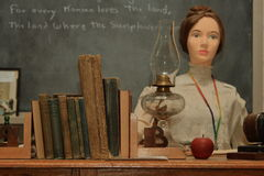 One Room Schoolhouse Display Royalty Free Stock Image