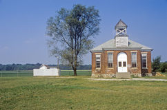 One-Room Schoolhouse, Northern Indiana Royalty Free Stock Images