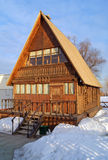 Old Schoolhouse. One room wooden schoolhouse in Russian style Royalty Free Stock Photos