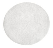 One round cotton cosmetic pad Stock Images