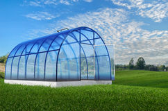 One round greenhouse in summer Royalty Free Stock Image