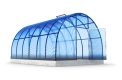 One round greenhouse on white Stock Images
