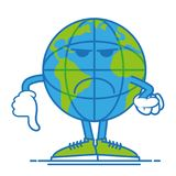 Don`t happy earth stock illustration