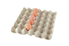 One row eggs Stock Photo