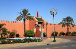 One of the Royal Palace gates in Marrakech Royalty Free Stock Photo