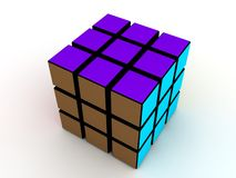 One Rubick's Cube Stock Photography
