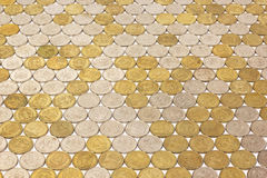 One rubl coins tile background Stock Photo