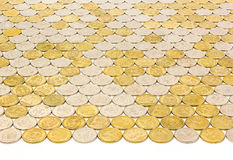One rubl coins tile background Royalty Free Stock Photography