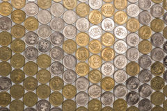 One rubl coins tile background Stock Images