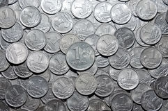 One ruble a kopeck Royalty Free Stock Images