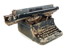 One rugged typewriter Stock Photo