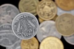 One rupee coin Royalty Free Stock Photography