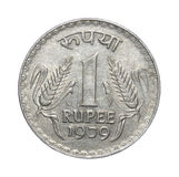 One Rupee Coin India Royalty Free Stock Photo
