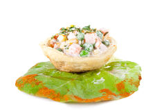 One russian salad in tortilla Royalty Free Stock Image