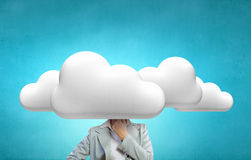 With one's head in clouds Stock Images