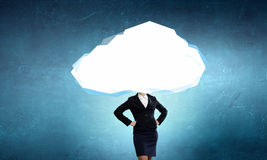 With one's head in clouds Stock Photography