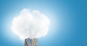 With one's head in clouds Royalty Free Stock Photos