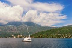 One sail boat Royalty Free Stock Photos