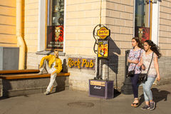 One of the scenes of the life on Nevsky Prospekt Royalty Free Stock Photos