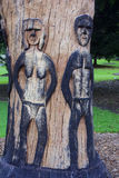 One of the sculptures in the park in Sydney Royalty Free Stock Photo