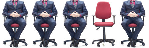 One seat vacant. One seat is vacant in a row Royalty Free Stock Photography