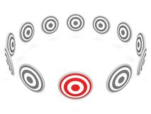 One selected red target Stock Images