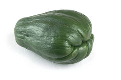 Single dark green Chayote on white background. Stock Photography